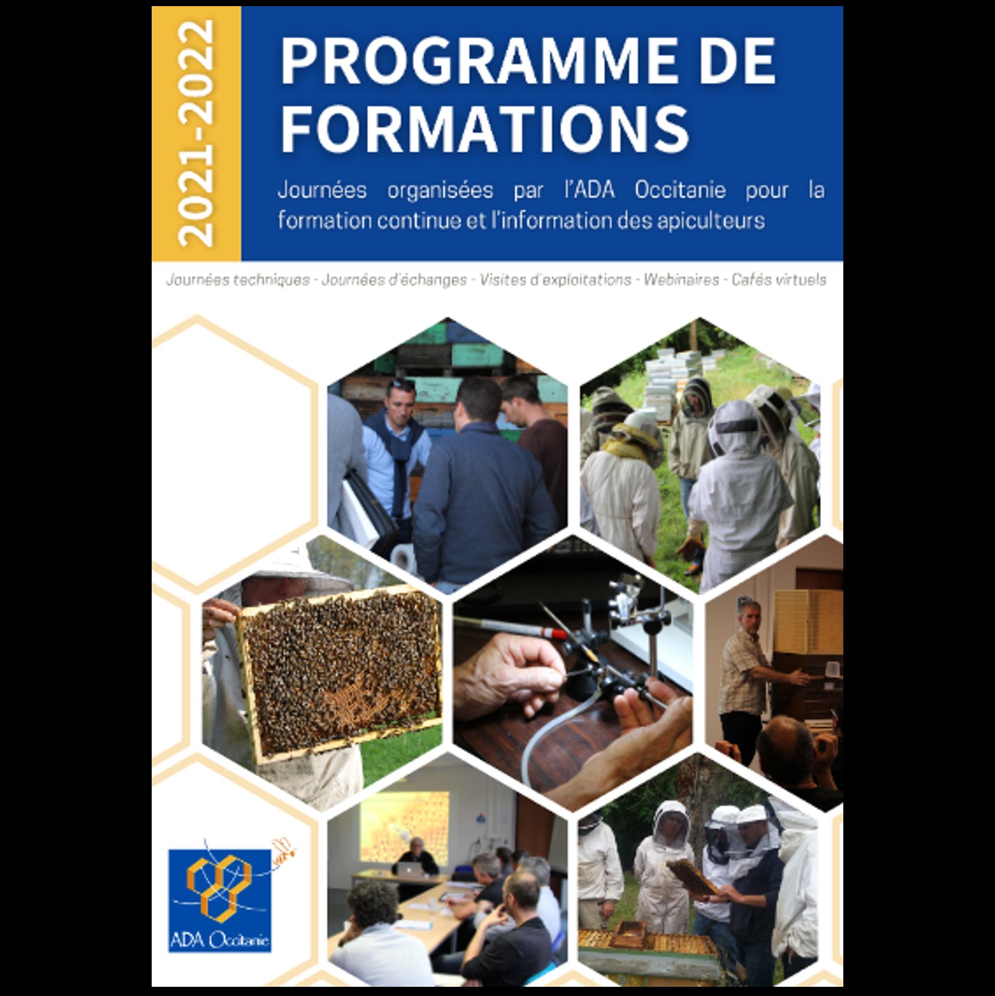 Catalogue des formations Association de Développement de l'Apiculture Occitanie 2021-2022_carré